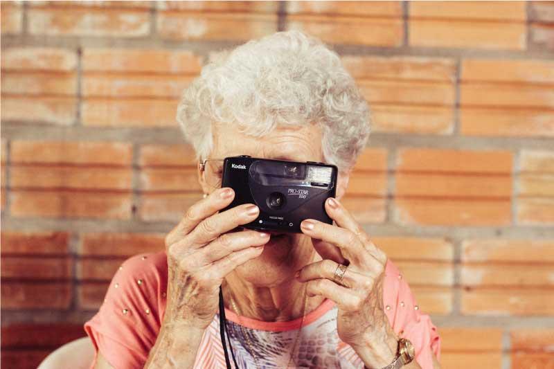 Lady taking photo